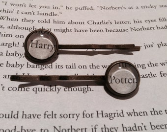 Harry Potter Hair Pins / Harry Potter Gift / Bobby Pins / Gift for Her / Bookworm Gift Idea / Bookish Hair Pins / Stocking Stuffer