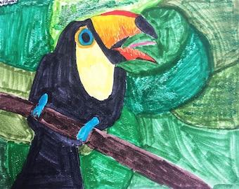 Wildlife animal greeting cards by Lyla and Maria,  World Wildlife Fund, cards. set of animal cards, by children, wildlife, art by children