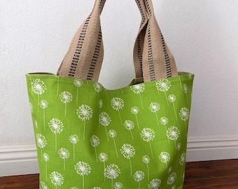 Chartreuse Dandelion - Tote Bag