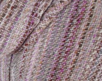 Hand woven scarf made with handspun luxury yarn - READY TO SHIP