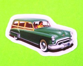 Oldsmobile 1946 Station Wagon Family Car Classic Vintage Series Automobile Vinyl Sticker