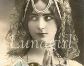 1000 LADIES PHOTOS, vintage images, Women Victorian Edwardian Vintage Postcards, showgirls bellydance, altered art digital ephemera DOWNLOAD