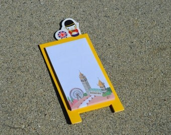 London Sticky Notes with Stand - Memo Paper for Your Planner