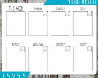 Printable Insert - Undated Monthly Planner - Travelers Notebook - Daily Planner Insert