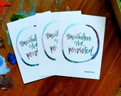 PREORDER: nevertheless she persisted - wisdom cards - 2.75x3.75 inches