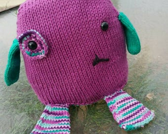 READY TO SHIP: Justice the Monster, Knit with Love