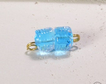 Anemone Textured Bead - Light Turquoise