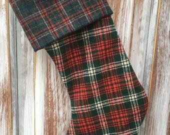 FLASH SALE- Wool Stocking -Christmas Stocking-Upcycled Wool-Eco Friendly