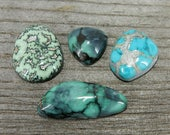 Nevada Turquoise & Variscite Cabochon Lot - De-Stash Stone Sale, Jewelry Making Supplies, Cab, Gem, Gemstone