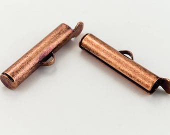 20mm Antique Copper Slide Tube #MFD109