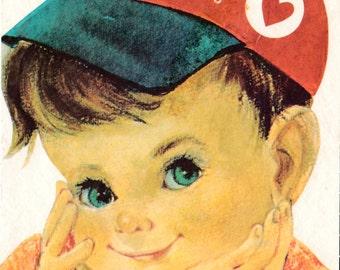 Vintage 1930's Little Girl Expanding Greetings Card (B17)