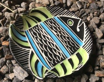 Mod Porcelain Fish dish tea tray