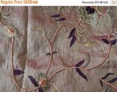CLEARANCE Copper chenille fabric, 20 x 30 inches