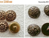 CLEARANCE - 8 domed buttons,matt gold tone buttons, shank buttons, .75 inches