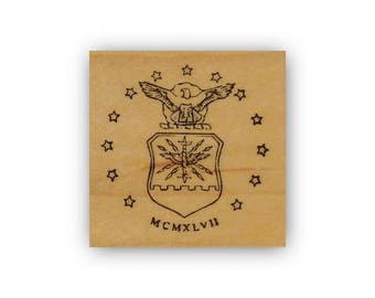 United States Air Force Emblem mounted rubber stamp, USAF, military, Crazy Mountain Stamps #4