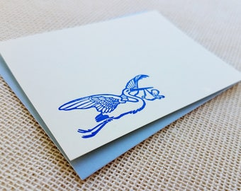 Letterpress Enclosure Card - Stork & Baby