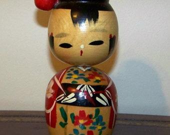 Vintage Japanese Kokeshi Doll Bobble Head Nodders