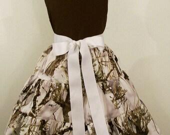 Snow Camo Jumper Dress, Toddler Big Girls Dress, Girls Clothing, Handmade Dress, Made in the USA, #7