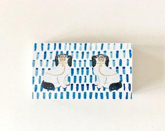 BESPECTACLED on BLUE Large Matchbox