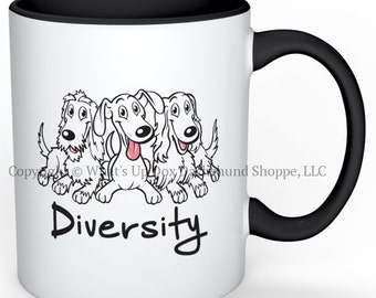 Dachshund Diversity Ceramic Coffee Mug
