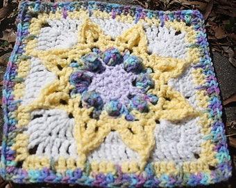 Casyra 9 inch granny square, PDF pattern