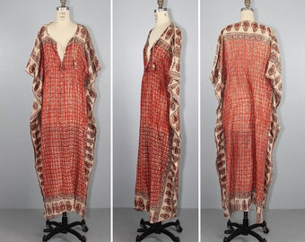 india dress / bohemian / caftan / SAMARA cotton gauze festival dress