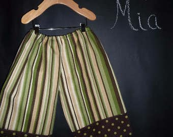 Sample SALE - Will fit Size 12month to 3T - Ready to MAIL - Samurai PANTS Heavy Weight Fabric - by Boutique Mia