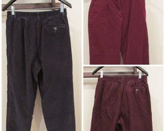 LL Bean Wide Wale CORDUROY Pants Lot of 3 Pair Stretch Curvy MOM Fit sz 10 For Upcycle Make in to Cut Off Shorts