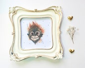 Orangutan - Print of a Watercolor Painting of a Happy Little Ape