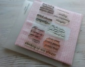 """DESTASH """"Comforting Thoughts """" •my acrylix stamps• Close to my heart C1088"""
