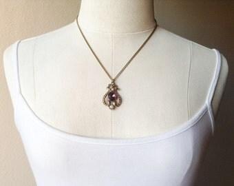 RESERVED Vintage Avon Rhinestone Necklace