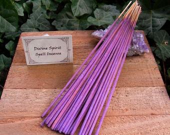Divine Spirit Incense Sticks  - 20 pack - Enchant Your Sacred Space, Spirituality, Intuition, Wisdom, Meditation, Myrrh, Pagan Supplies