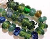 Handmade Lampwork Glass Borosilicate Beads WATERCOLORS Two Sisters Designs 043017A