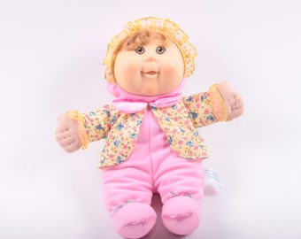 Cabbage Patch Kid, Girl, Blonde, Bonnet, Onesie, Jacket, Soft Doll ~ The Pink Room ~ 170211