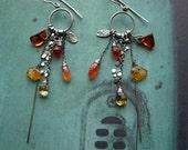 reserved -Tangerine Earrings – Carnelian Citrine Amber