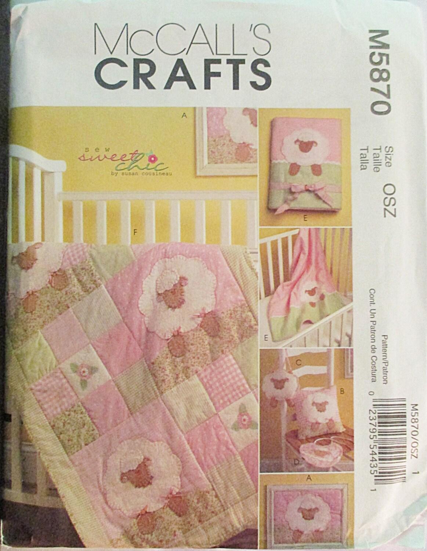 Mccalls Crib Bedding Sewing Patterns