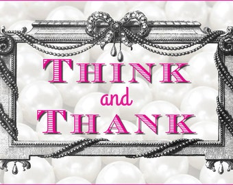 Think & Thank Mantra Linen and Cotton Tea Towel
