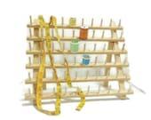 June Tailor Sixty Spool Thread Rack | Table Top Freestanding Wood Spool Holder