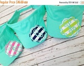 ON SALE Monogrammed Raggy Patch Visors