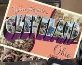 Vintage Large Letter Postcard Save the Date (Cleveland Ohio) - Design Fee