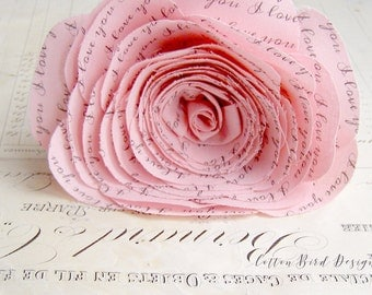 2 year anniversary Long Stem Pink Rose Sweet engagement Anniversary Wedding Gift   - Made to Order
