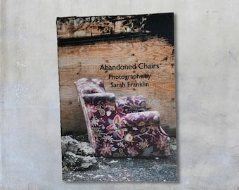 Abandoned Chairs Zine: Mini Photo Zine, gift under 5, Xmas, seat, furniture, sofa, lost, forgotten, photography, art