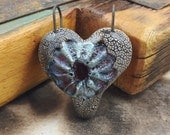 Raku Ceramic Heart Pendant Jewelry Handmade Gifts         by MAKUstudio