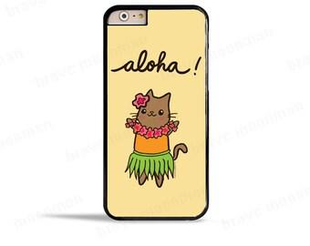 Samsung Galaxy S7 Case Aloha Hula Cat iPhone 7 Case Hawaiian Cute iPhone 6s Case Cute Cat Lover Gift