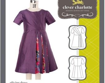 Clever Charlotte PATTERN - Olivine Dress - Sizes 2T-8
