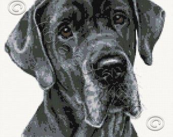 Great Dane No2 dog counted cross stitch kit