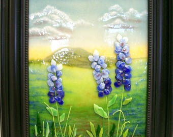 Fused Glass Painting (Blue Bonnets)