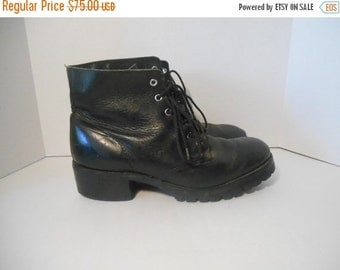FRYE black Leather Boots USA Size 10 M   riding engineer  Mens Vintage