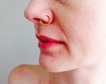 Fulani Gold Nose Ring. African