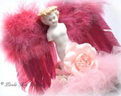 Frozen Charlotte Angel Jewelry Box Art Doll Mixed Media Assemblage Art Doll Special Jewelry Ring Box